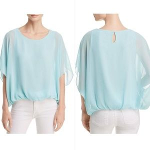 Vince Camuto Sheer Flowy Batwing Sleeve Blouse